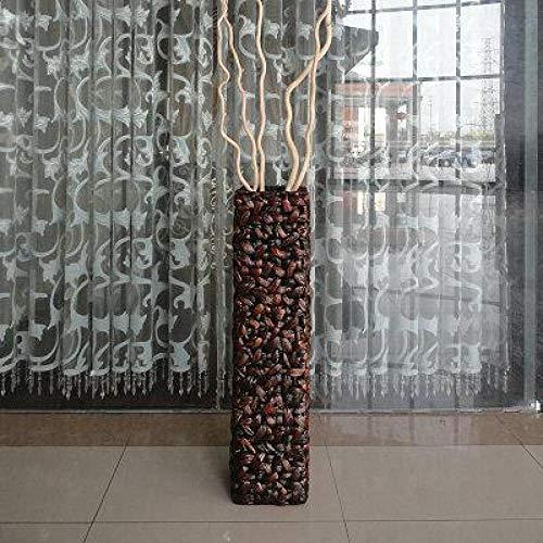 LZCR Chinesische zweifarbige Bodenvase für Blumenstroh Tischvase Balkon Büro Wohnzimmer Hauptdekoration Blumenvase für Hochzeit-78X19X19CM