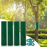 Stingmon 4 Pezzi di Nastro Adesivo in Gomma da 3m×15cm per impedire a bruchi, formiche e Altri parassiti di arrampicarsi sugli Alberi, Inclusi 4 Fili di Legatura