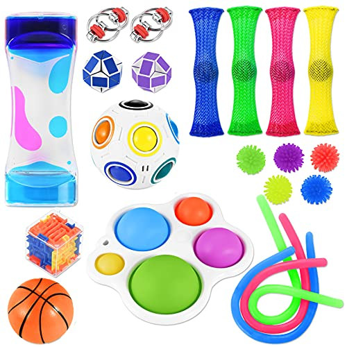 Nestling Fidget Toys Set, 21Pcs Sensory Fidget Toys for Kids Adults, Stress Reliever Anxiety Relief Sensory Squeeze Toys for ADHD Autism Special Needs