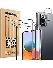 Kiewhay Pansarglas skyddsfolie kompatibel med Xiaomi Redmi Note 10 Pro pansarglas, 3 x skyddsfilm 2 x kamera pansarglasfolie, [9H hårdhet] 99,99 % HD pansarglasfilm för Redmi Note 10 Pro – 5 stycken
