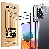 Kiewhay Protector de Pantalla Compatible con Xiaomi Redmi Note 10 Pro Cristal Templado, 3x Vidrio Templado +2x Protector de Lente de Cámara, HD Protector de Pantalla para Redmi Note 10 Pro - 5 Piezas