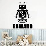 Lustige Roboter Baby Raumdekoration Vinyl Tapete Wandtattoo Kreative Aufkleber...