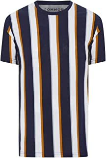 Connor Men's Dash Stripe Crew Tee Regular T-Shirts Casual Tops Sizes XS-3XL Affordable Quality with Great Value