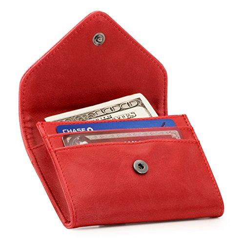 Otto Angelino Portafoglio in Ecopelle con Porta Monete e Porta Carte di Credito o Tessere – Blocco Anti RFID – Unisex