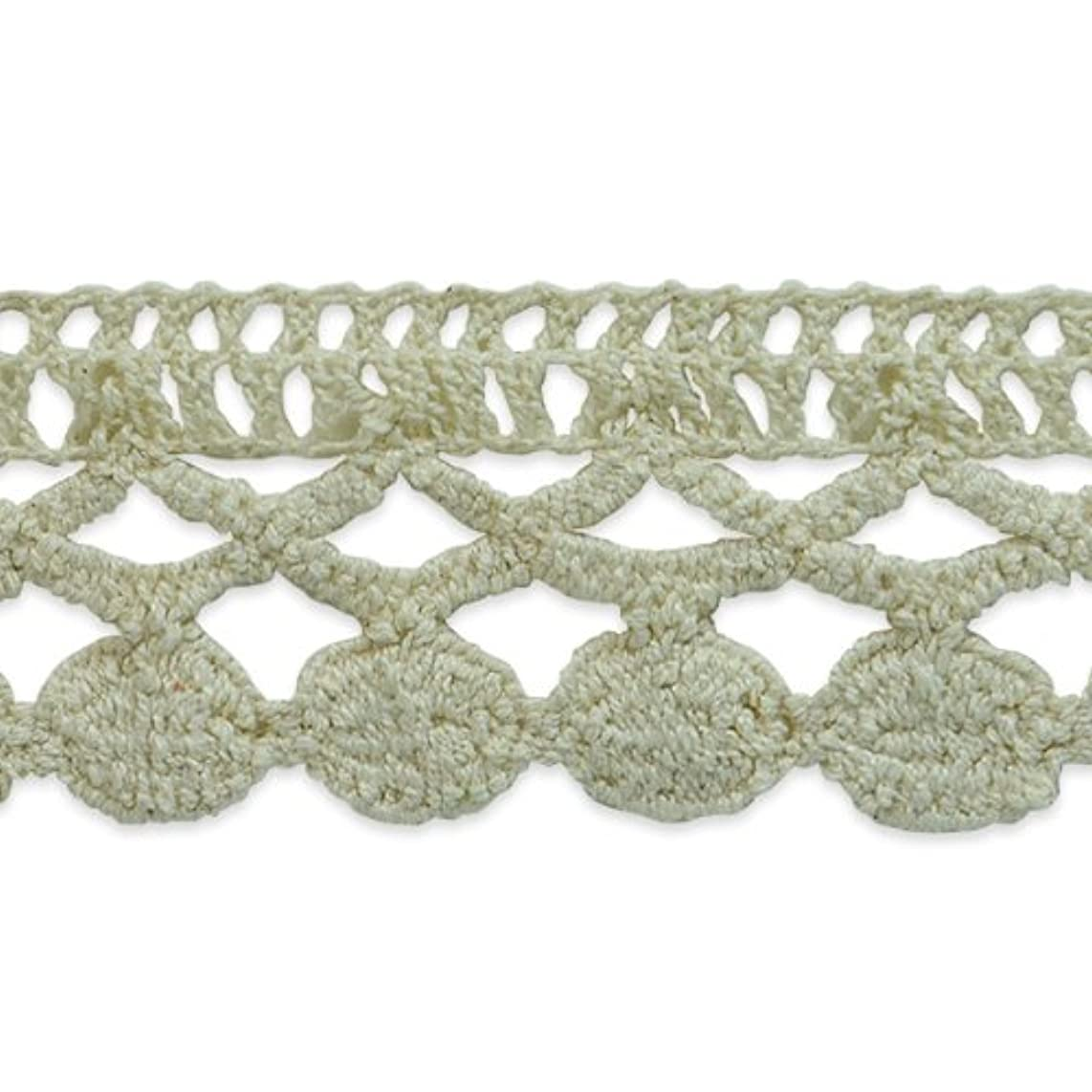 Expo International Sadie Machine Crocheted Trim Embellishment, 10-Yard, Cream