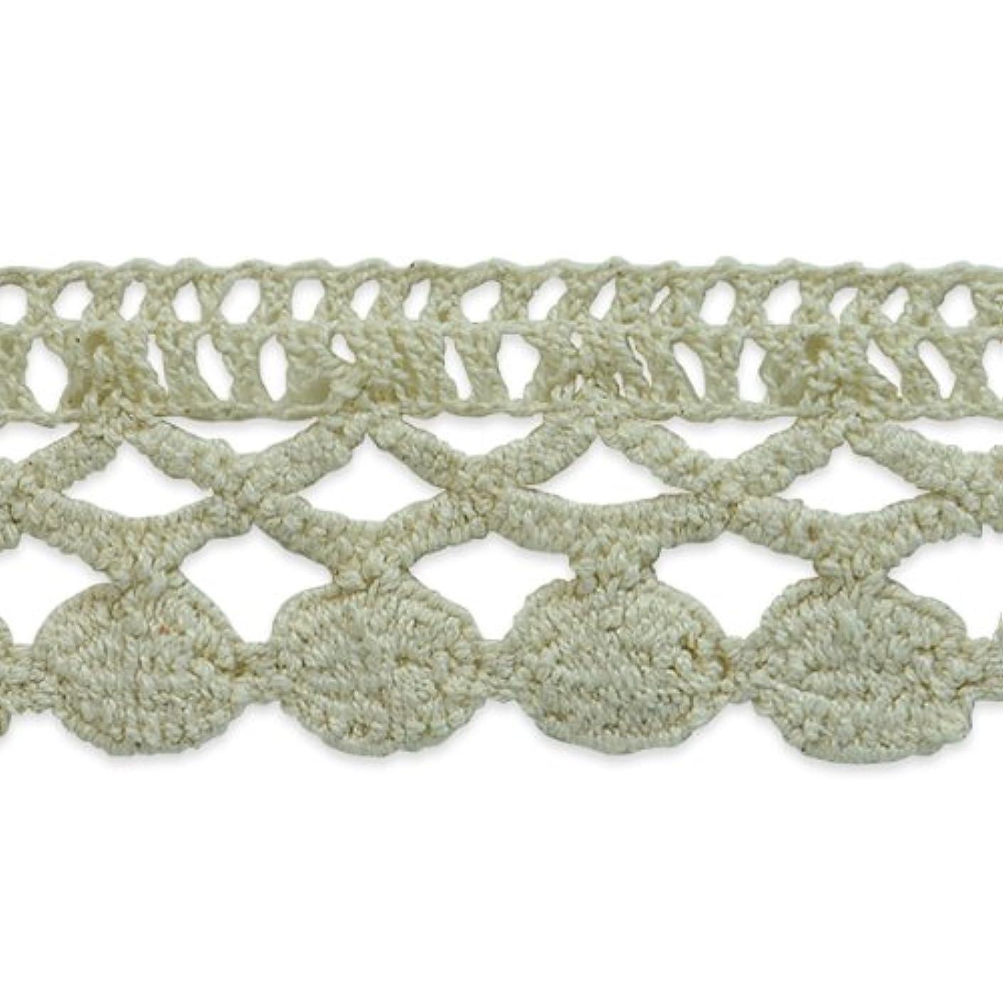 Expo International Sadie Machine Crocheted Trim Embellishment, 10-Yard, Cream