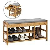 SoBuy® FSR47-N Schuhbank mit Sitzfläche und Schubladen
