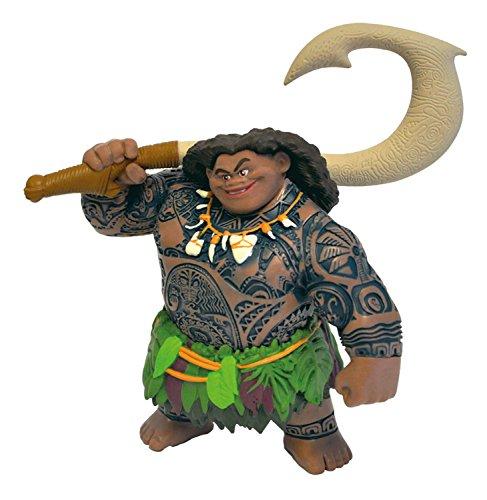 Vaiana 13186-Figura, Walt Disney, semidiós Maui, Figura Pintada a Mano, Libre de PVC, para niños para el Juego imaginativo, Multicolor (Bullyland 13186)
