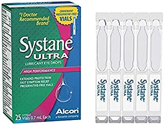 New Systane Ultra High Performance No Preservative Unit Dose Lubricant Eye Drops, 25 Vials