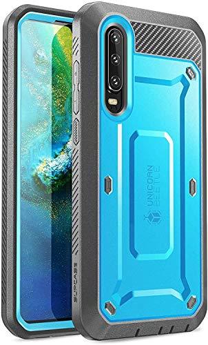 SUPCASE Huawei P30 Hülle 360 Grad Handyhülle Bumper Hülle Robust Schutzhülle Cover [Unicorn Beetle Pro] mit Integriertem Bildschirmschutz für Huawei P30 6.1 Zoll 2019 (Blau)