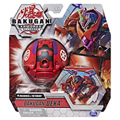 LARGE COLLECTIBLE BAKUGAN: Fused Deka Bakugan combine 2 factions and are the powerful jumbo versions of your favorite characters! With an exclusive large BakuCore included, pop open into Baku-Action! POP-OPEN TRANSFORMATION: Transform your Deka Bakug...