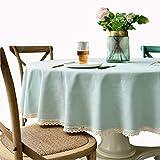 MCZ White Lace Tischdecke Stickerei Tischdecken Abdeckung Runde Tischbezüge Für Hotel/Zuhause/Party (Hellgrün, Durchmesser135cm)