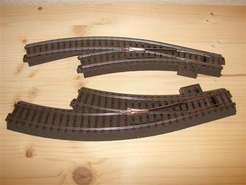 Märklin C-Gleis Weichen 24671 und 24672 aus Startset