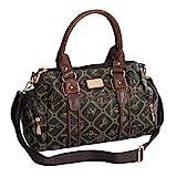 Damentasche von Giulia Pieralli - Damen Glamour Handtasche Handbag Tasche Henkeltasche Bowling Tasche Umhängetasche (Coffee-Braun) präsentiert von ZMOKA®