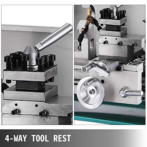 BestEquip Metal Lathe 8x16 Inch,Mini Metal Lathe Infinitely Variable Speed 2250RPM,Precision Lathe Machine 750W,Metal Working Lathe, Small Metal Lathe,for Precision Parts Processing