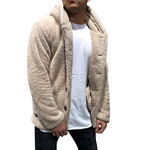 VENMO Herren Herbst Winter Einfarbige Strickjacke Outdoorjacke Übergangsjacke Jacke Übergang Kapuze Steppjacke Winterparka Cordjacke Wärmejacke Strickmantel