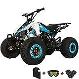 X-PRO Thunder 125 125cc ATV Quad Youth 4 Wheeler ATVs Adults ATV 4 Wheelers ATVs Quads Big 19'/18' Tires(Blue)