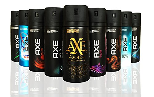12 AXE body spray deodrant Anit-Aerspirant (12X 150 ml/5.07 oz, Mix within the available kinds)