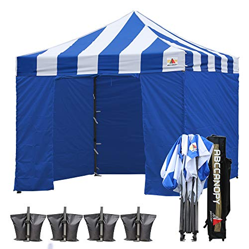 ABCCANOPY Canopy Tent Canopy 10x10 Pop Up Canopies Commercial Tents Easy Pop-up Instant Shelter with Removable Sidewalls and Roller Bag Bonus Weight Bags