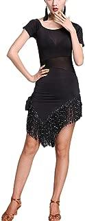 See Through Split Leg Latin Salsa Jive Dance Sport Costumes Dresses