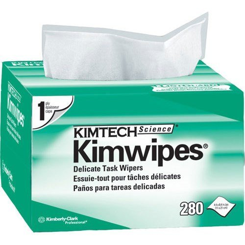 Kimwipes 34120 EX-L Delicate Task Wipers Pkg Qty/280 Box -2 pack by stanleysupply