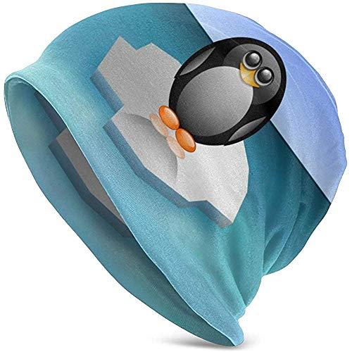 GodYo Pingüino del Polo Norte Iceberg Cartoon Beanie Hat Ligero Baggy Slouchy Elástico Turbante para Hombres y Mujeres Headwraps