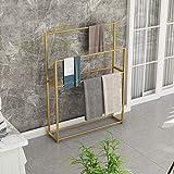 Best Radiator Towel Racks - Modern Floor Free Standing Towel Rack Bathroom 4-Bar Review