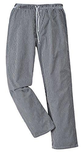 Portwest Kochhose Bromley, Regelmäßige Länge, Farbe: Schwarz/Weiß kariert, Größe: XXL, C079CKRXXL
