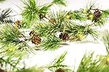 CraftMore Smokey Pine 6' Christmas Garland with Lights