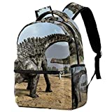 LORVIES Dino Dinosaur Egg Ampelosaurus Lightweight School Classic Backpack Travel Rucksack for Girls Women Kids Teens