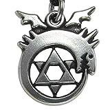 Pewter Ouroboros Alchemy Symbol Necklace