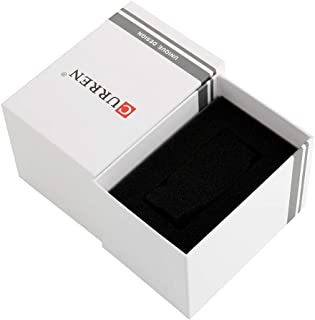 Decdeal Watch Box Gift Box Built in Sponge Watches Square Packing Boxes Accessories for Men Women (White, 4.3 * 3.0 * 2.8 ...
