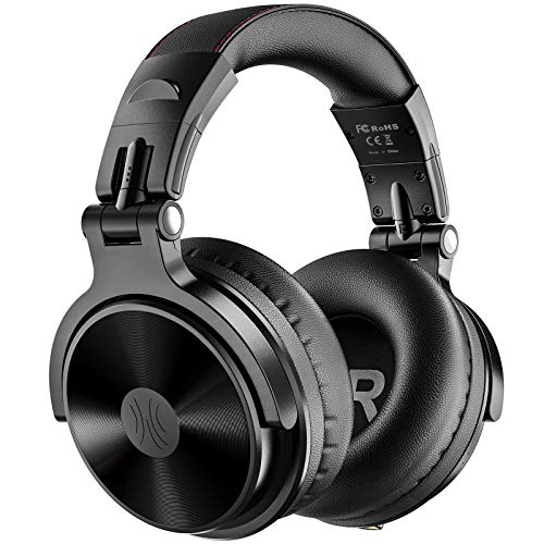 OneOdio Bluetooth Headphones Over Ear Wireless Bass Boosted Stereo Hi-Fi Sound 80 Hrs Play Time with Studio Music Level Quality 50mm Neodymium Speaker Foldable Headphone for Cell Phone TV PC iPad