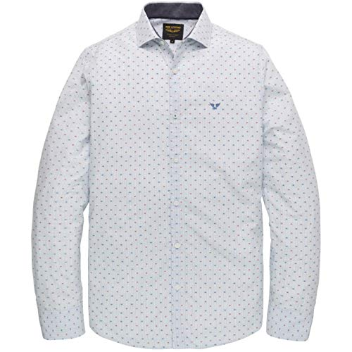PME Legend shirt met lange mouwen Stripe Dobby Fab
