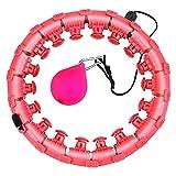 GKER Hula Hoop,24 Secciones Smart Hula Hoop Fitness Masaje, Hu-la Hoop Artefacto de Pérdida de Peso,No se Puede Dejar Caer el Hula Hoop Adecuado para Principiantes.