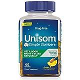 Unisom Simple Slumbers Drug-Free Sleep Aid Gummies Melatonin 5mg, Honey Lemon
