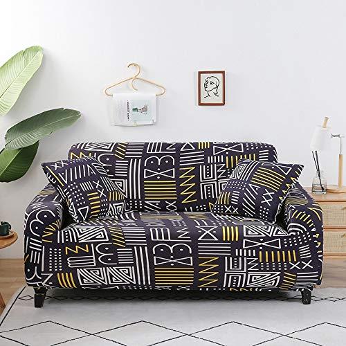 WXQY Fundas de Tela Escocesa elástica Funda de sofá elástica Funda de sofá de protección para Mascotas Funda de sofá con Esquina en Forma de L Funda de sofá con Todo Incluido A30 1 Plaza