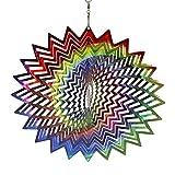 Spinner de Viento de Acero Inoxidable - Adorno de decoración de jardín Interior al Aire Libre 3D, decoración del hogar, para el día de Pascua (Multicolor)