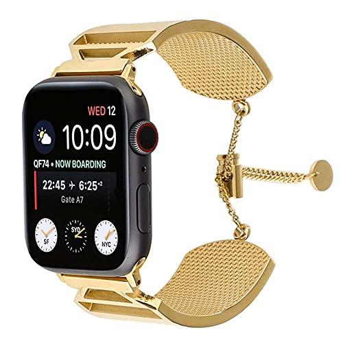 KAEGREEL Correas de Reloj compatibles con iWatch Series 6 SE 5 4 3 2 1 Correas, 40 mm 38 mm Correa de Reloj para Apple Watch Banda de Repuesto de Acero Inoxidable Pulsera Pulsera Ajustable,42mm/44mm