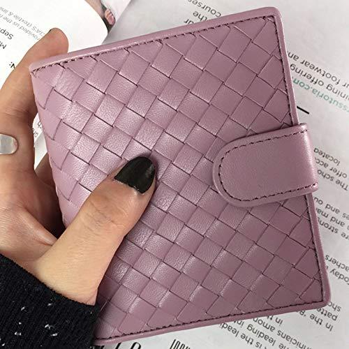 Coin portemonnee tweevoudig multifunctionele portemonnee met lederen rits mode Multi kleuren muntportemonnee dames kleine portemonnee geweven portemonnee
