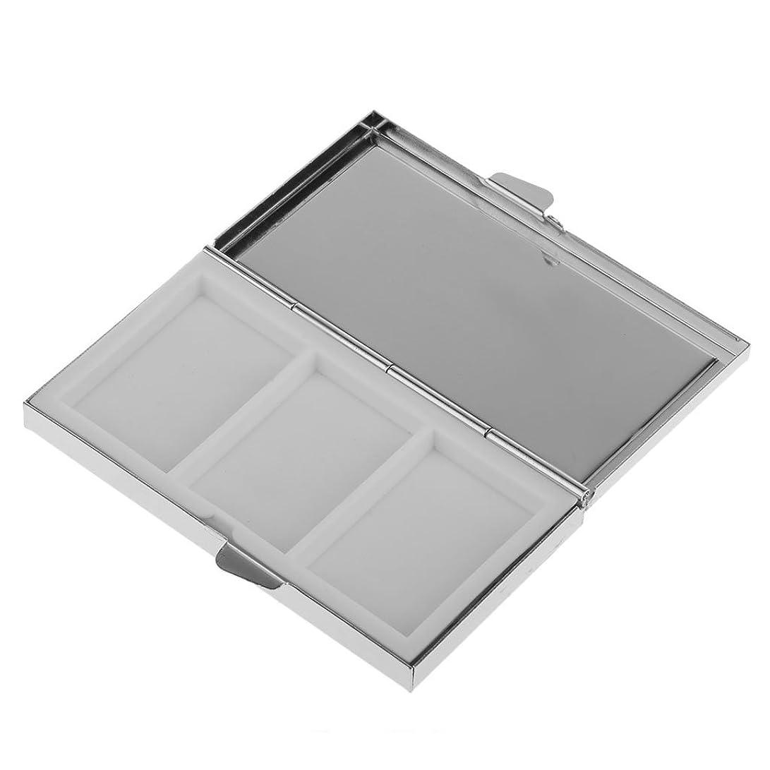 水銀の騒ぎ王族ミニ旅行金属ピルボックス医学オーガナイザー収納ケース収納3スロット