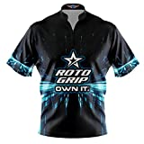 Logo Infusion Bowling Dye-Sublimated Jersey (Sash Collar) - Roto Grip Style 0360RG (2XL) Blue Black