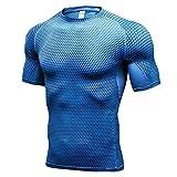 Correr Shirt Hombre Moderna Simplicidad Moda Color Sólido Empalme Hombre Funcional Shirt Verano Básico Cuello Redondo Delgado Manga Corta Sport Wicking Transpirable Músculos Shirt