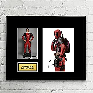 Ryan Reynolds Deadpool Signed Autographed Photo Mat Custom Framed 11 x 14 Replica Reprint Rp
