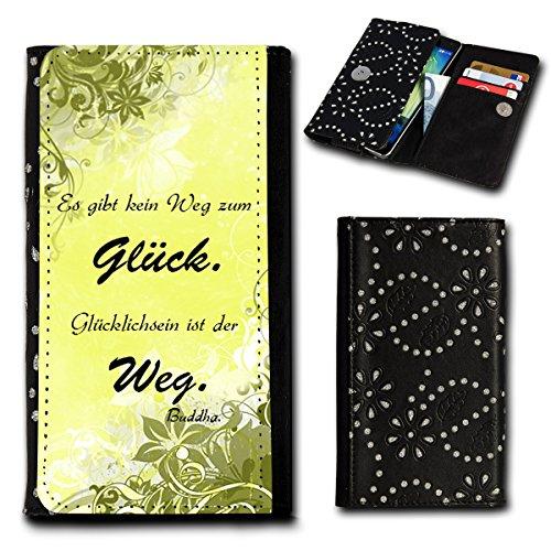 Strass Book Style Flip Handy Tasche Case Schutz Hülle Foto Schale Motiv Etui für Archos 50 Neon - Flip SU6 Design11