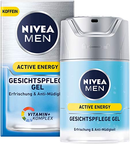 NIVEA MEN Active Energy Gesichtspflege Gel im 1er Pack (1 x 50 ml), belebende Gesichtscreme für Männer, Feuchtigkeitscreme gegen Zeichen von Müdigkeit
