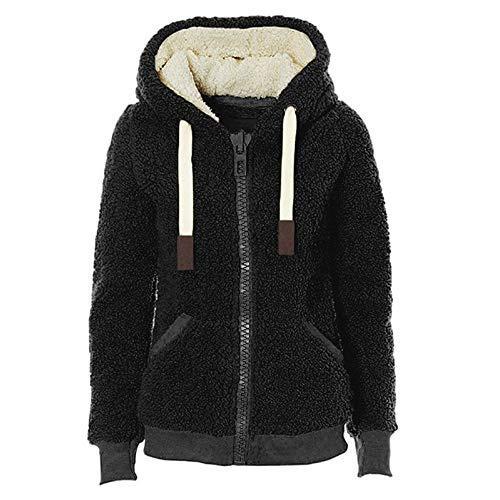 yanghuakeshangmaoyouxiangong Damen Sweater Fleecejacke Für Herbst Und Winter Dicke Kapuzenplüschjacke