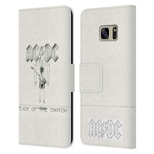 Head Case Designs Offizielle AC/DC ACDC Flick of The Switch Albumcover Leder Brieftaschen Huelle kompatibel mit Samsung Galaxy S7