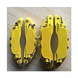 RKRLJX Bremssattel Abdeckung Bremsabdeckung gelbe Metallbremssattelabdeckung Fit for weißem endlosen Aufkleber Logo Aluminiumlegierung Styling (Color Name : White brembo), Size : 2 pcs M and 2 pcs S