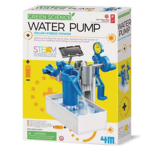 4M 403425 Green Hybrid Solar Power Water Pump Science Kit